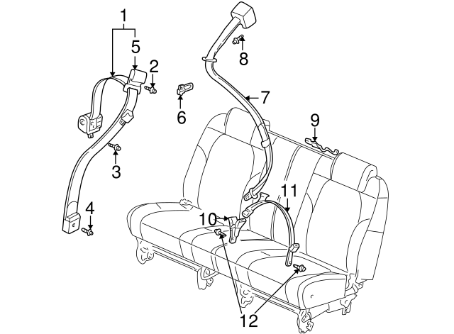 1992 2007 Gm Retractor Assembly Bolt 11609471
