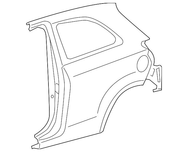 2012 2018 Toyota Yaris Quarter Panel 61602 52650