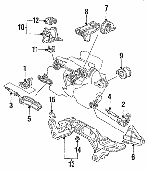 Rubber, Transmission Mounting (AT)