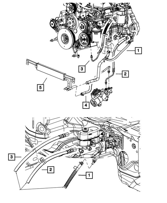 Genuine Chrysler 5154476AB Power Steering Pressure Hose