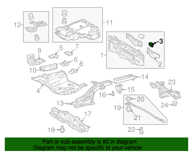 Rear Body Panel Bracket Toyota 58386 02030