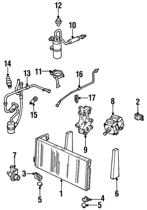 Condenser Compressor Lines For 1996 Mercury Villager Haag Ford Parts