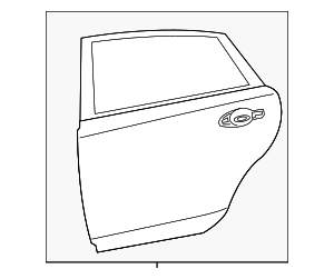 Door Shell - Nissan (82101-3TA0D)