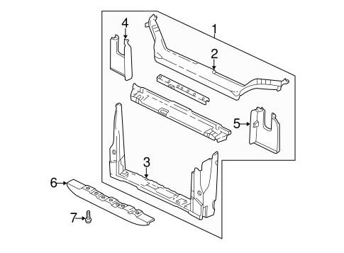 oem radiator support for 2000 pontiac montana
