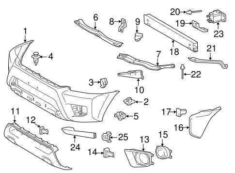 BODY/BUMPER & COMPONENTS - FRONT for 2014 Toyota Tacoma #1