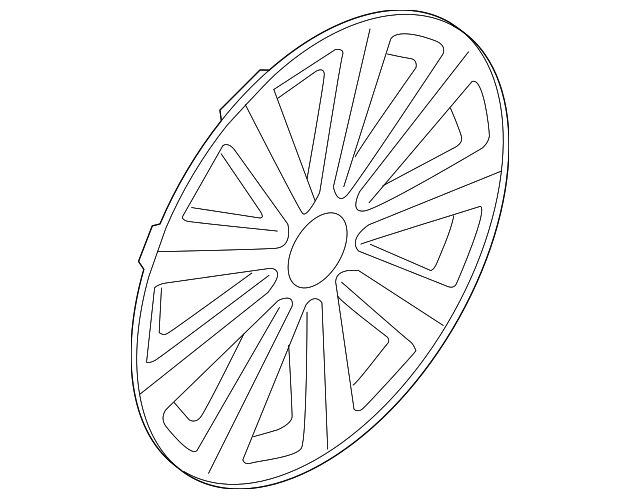 Genuine Volkswagen Wheel Cover 561 601 147 A 8z8