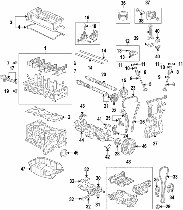 2015-2020 Acura Valve Assembly, Spool 15810-5A2-A01
