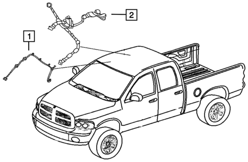 Wiring Body And Accessories For 2018 Ram 1500