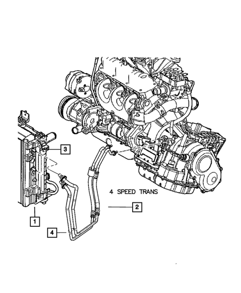 Lines, Transmission Oil Cooler for 2005 Dodge Grand Caravan | Mopar PartsMopar Parts - Mopar Online Parts