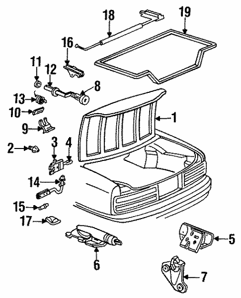 Trunk For 1995 Buick Regal