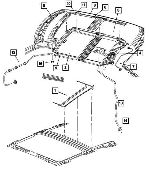 [DIAGRAM_5FD]  Sunroof for 2005 Dodge Magnum   Lake CDJR Parts   2005 Dodge Magnum Pump Engine Diagram      Lake CDJR Parts