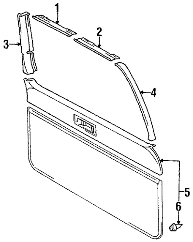 BODY/INTERIOR TRIM for 1997 Toyota Land Cruiser #1