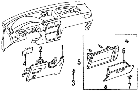 BODY/INSTRUMENT PANEL for 1998 Toyota Tercel #2