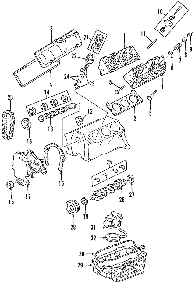 v8 engine diagram