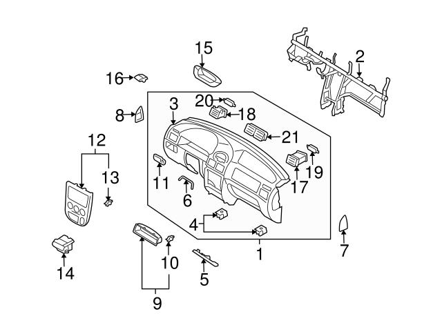 Kia Kia Crash Pad Clip Mgj21 64996 Genuine Kia Parts