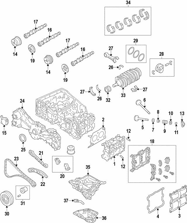 Bearing Set Subaru 12209aa650: 2014 Subaru Crosstrek Parts Diagram At Scrins.org
