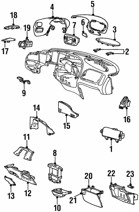 instrument panel components for 2000 lincoln navigator