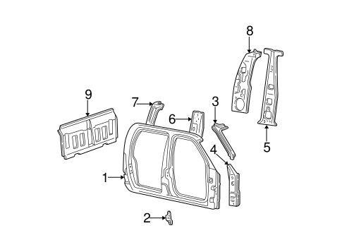 Body/Uniside for 2003 Ford F-150 #3