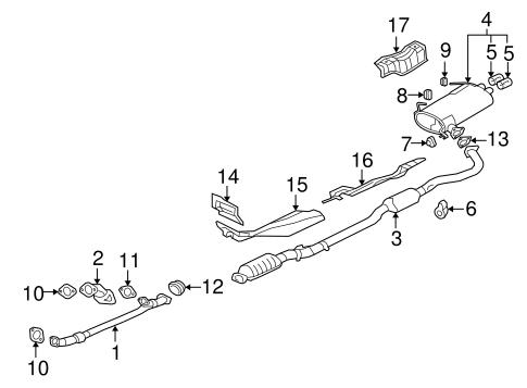 exhaust components for 2011 mitsubishi outlander xls auto parts rh mitsubishipartswarehouse com mitsubishi eclipse exhaust system diagram mitsubishi evo x exhaust diagram