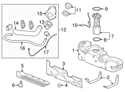 Oem 2014 Gmc Sierra 3500 Hd Fuel System Components Parts