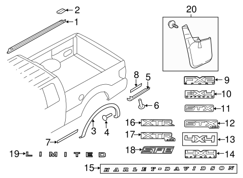 Body/Exterior Trim - Pick UP Box for 2014 Ford F-150 #3