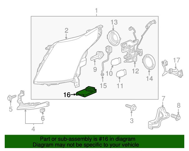 Hid Headlamp Components  GM  22785848    GMPartsDirect