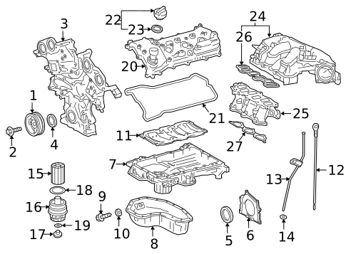 Engine Parts for 2009 Toyota Tundra #1