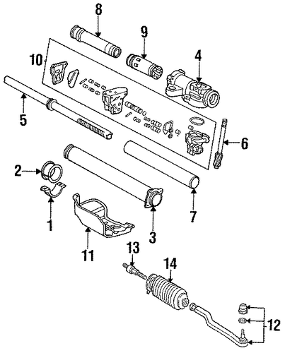 Housing Sub-Assembly, Steering Rack