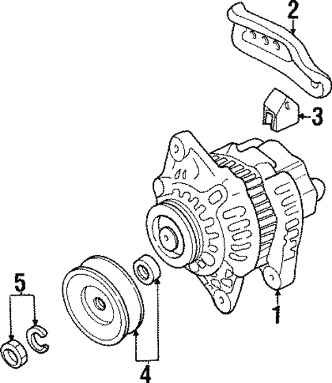 Electricalair Bag Components For 2000 Mazda Protege 1