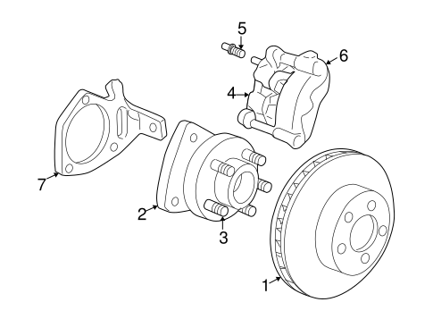 Front Brakes For 2003 Buick Century