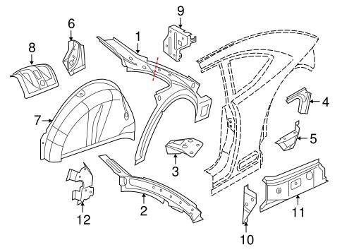 Inner Structure For 2012 Volkswagen Beetle
