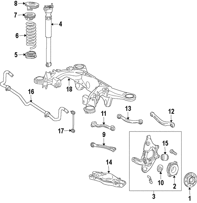 Shock Absorber - Mercedes-Benz (205-320-68-30)
