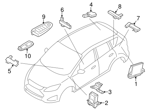 Keyless Entry Components For 2015 Ford C Max