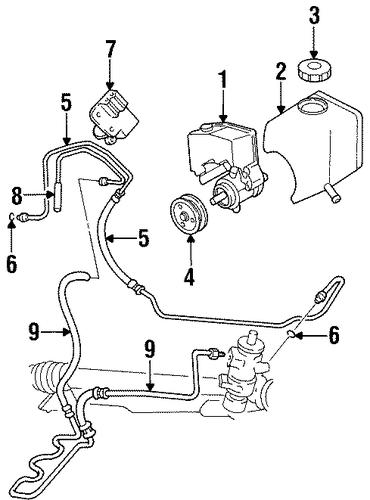 oem 1998 chevrolet monte carlo pump  u0026 hoses parts