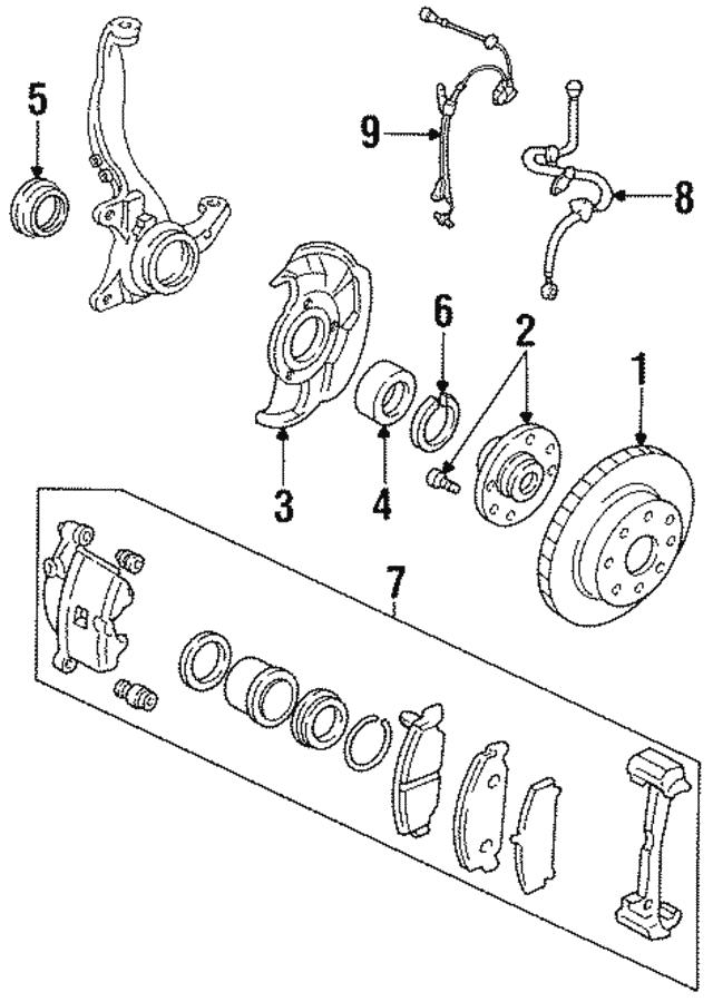 1992 2005 Honda Bearing Front Hubr Hub Ntn 44300 S5a 008