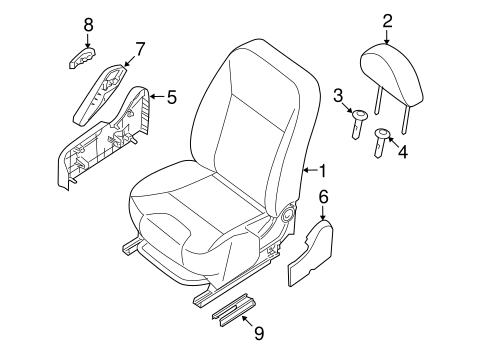 Front Seat Components for 2010 Nissan Sentra #0