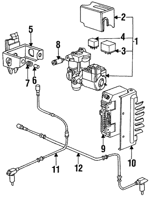 Abs Components For 1995 Porsche 928