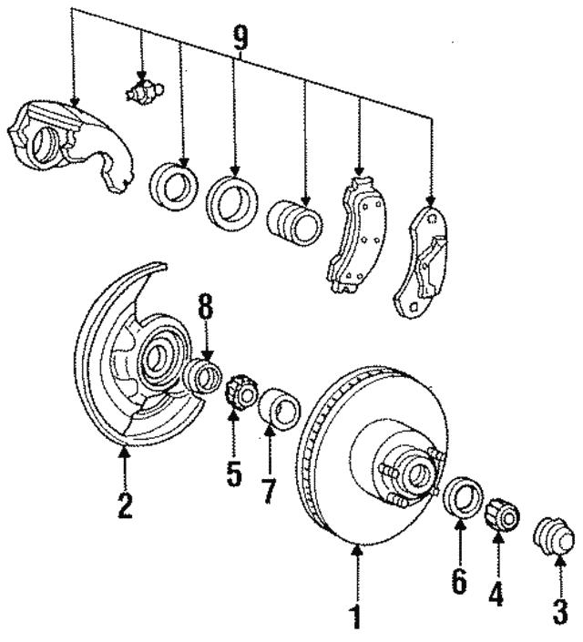 Ford Ranger Front Disc Brake Rotor Hub
