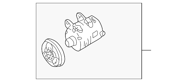 genuine nissan compressor assembly 92600