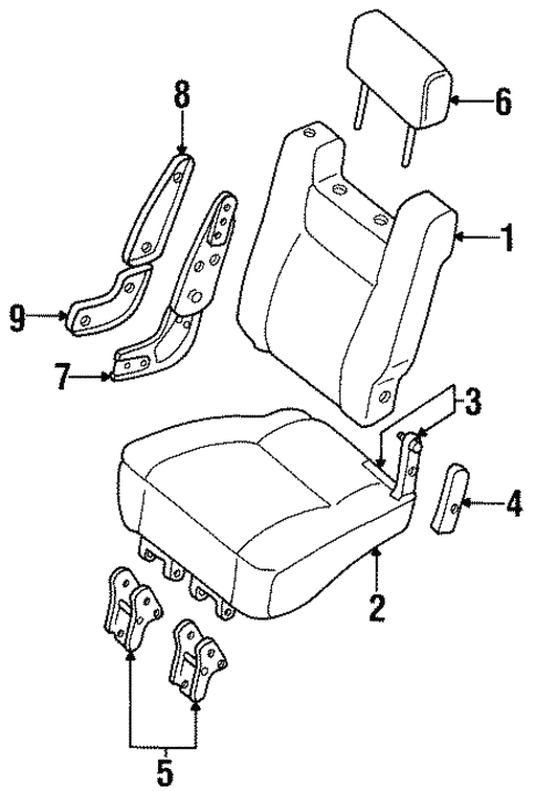 Rear Seat Components for 1995 Isuzu Trooper #1