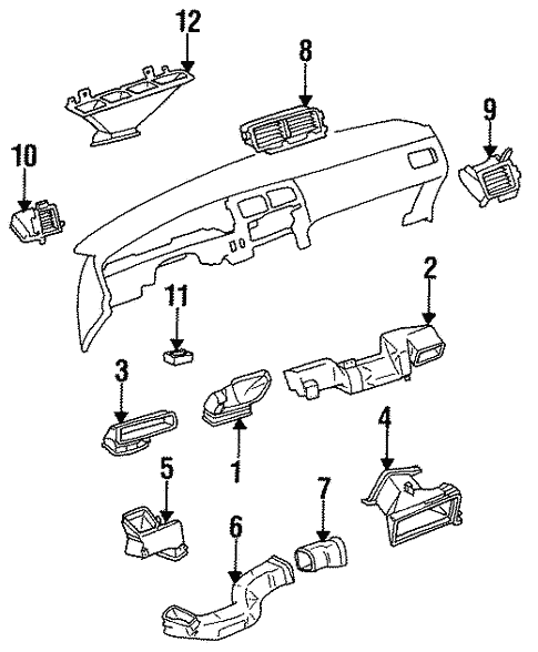 Body/Air Distribution System for 1994 Toyota T100 #1