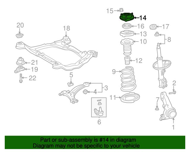 19982003 Toyota Sienna Strut Mount 4860908010 Toyotaoftabayparts. Strut Mount Toyota 4860908010. Toyota. 2000 Toyota Sienna Engine Support Diagram At Scoala.co