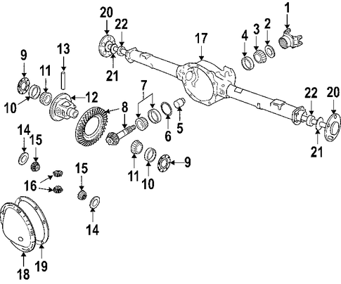 64 73 Mustang Other 219 7006 in addition Dana Axle Replacement Parts moreover Ring Pinion further 2009 10 Honda Pilot Clicking Noise  ing From The Front Suspension During Acceleration Or Braking as well Car Axles Diagram. on chevy 10 bolt front axle diagram