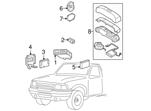 Body/Sound System for 2005 Ford Ranger #1