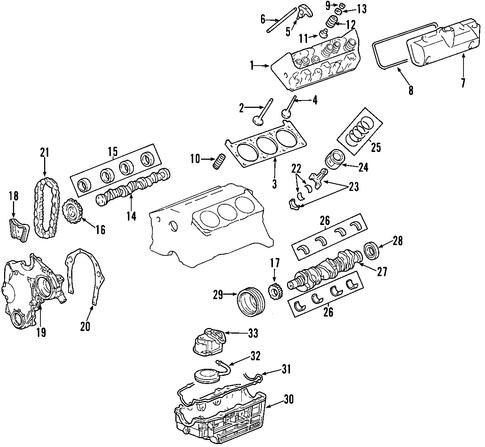 engine 2003 chevrolet impala oem new gm parts. Black Bedroom Furniture Sets. Home Design Ideas