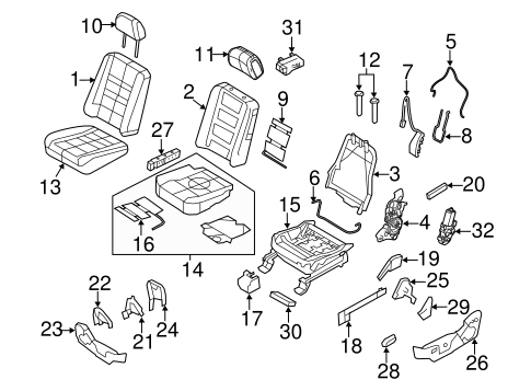 Body/Front Seat Components for 2013 Ford Flex #2