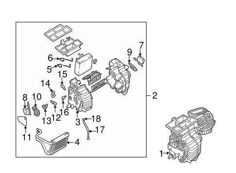 Tucson Hvacevaporator Components Parts