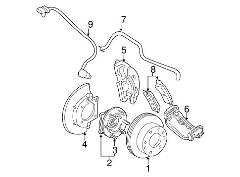 2001 Chevy Silverado Brake Parts Diagram