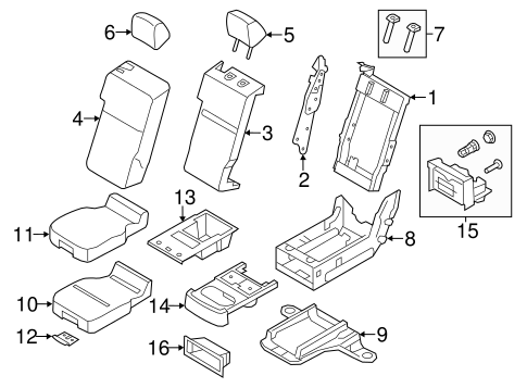 Front Seat Components For 2012 Ford F 150