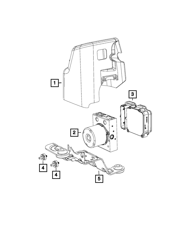 Genuine Mopar Anti-Lock Brake System Module 68067661AA